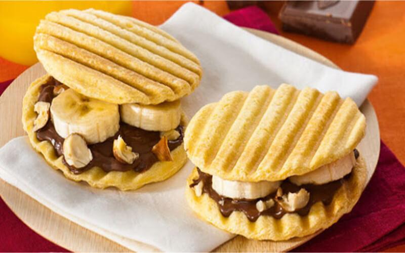 Croque Gourmand au chocolat et banane