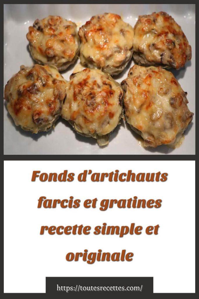 Comment préparer les Fonds d'artichauts farcis et gratines à la béchamel