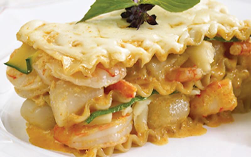Lasagnes Thaï aux Fruits de Mer et fromage