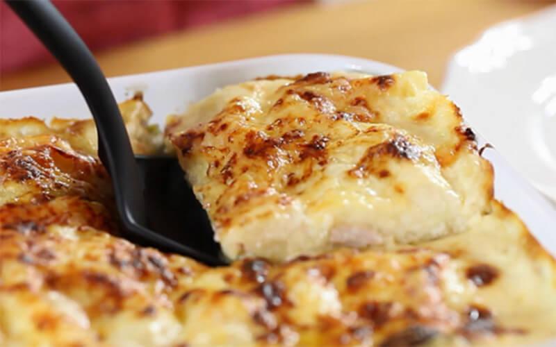 Lasagnes aux poireaux et au lard fumé plat unique