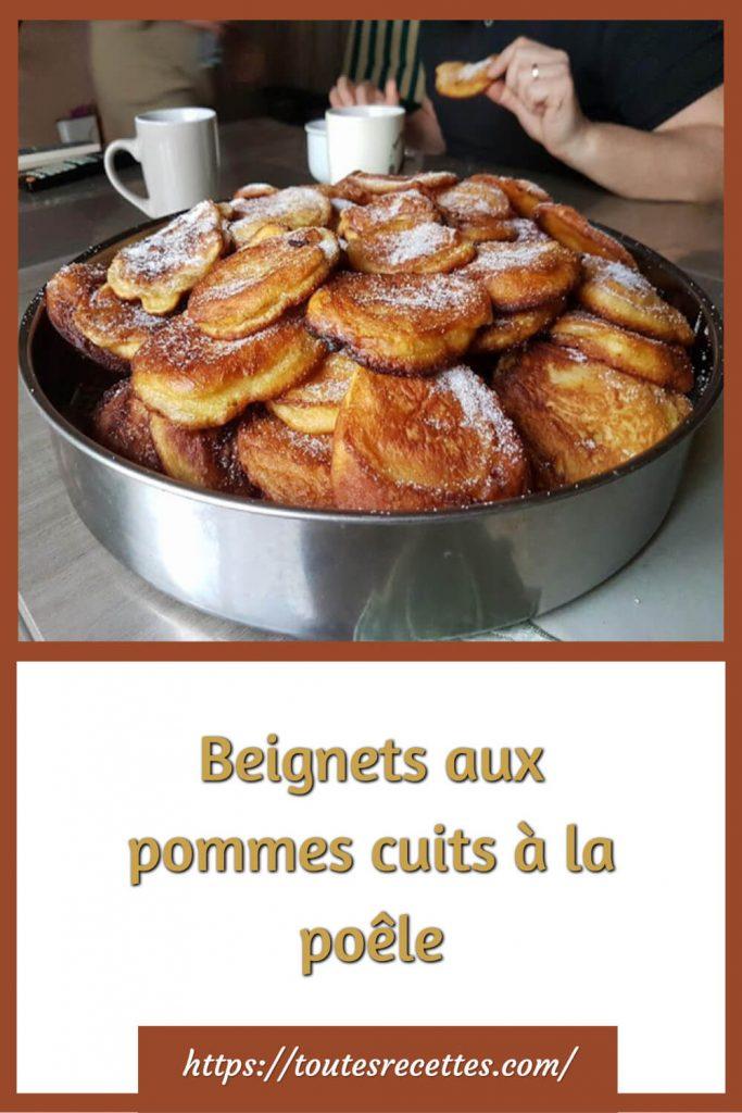 Comment préparer les Beignets aux pommes cuits à la poêle