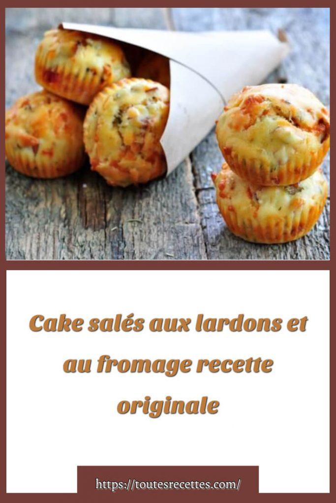 Comment préparer les Mini cakes salés aux lardons et au fromage râpé