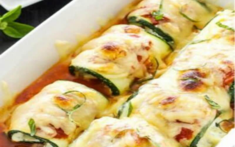 Lasagnes de courgettes au fromage ricotta