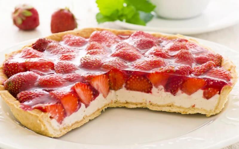 Tarte aux fraises et ricotta moelleuse et légère