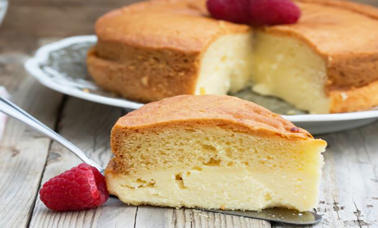 Gâteau magique à la framboise