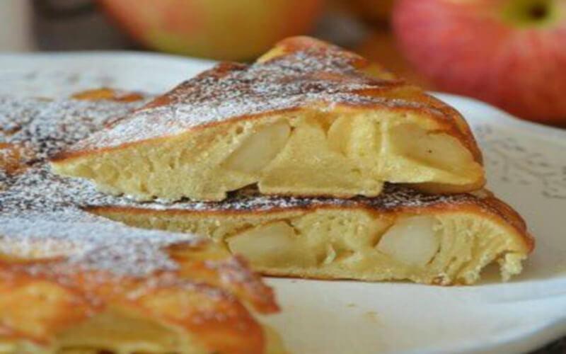 Gâteau aux pommes à la poêle Simple et pratique