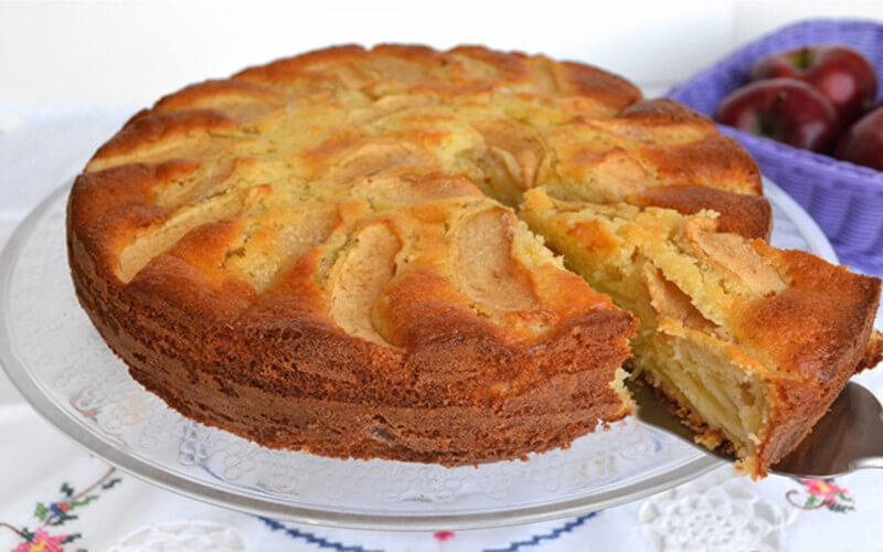 Gâteau aux pommes et mascarpone sans beurre
