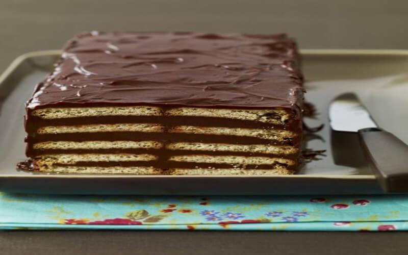 Le gâteau au Petit-Beurre et au chocolat ultra-facile