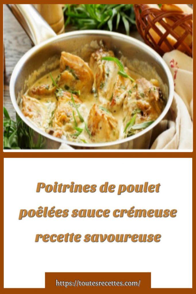 Comment préparer des Poitrines de poulet poêlées sauce crémeuse à l'ail et miel