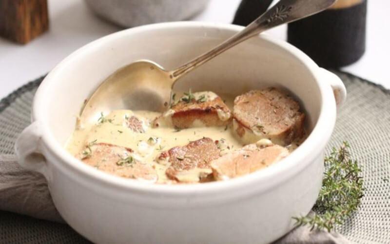 Filet Mignon de Porc à la Moutarde et au Thym