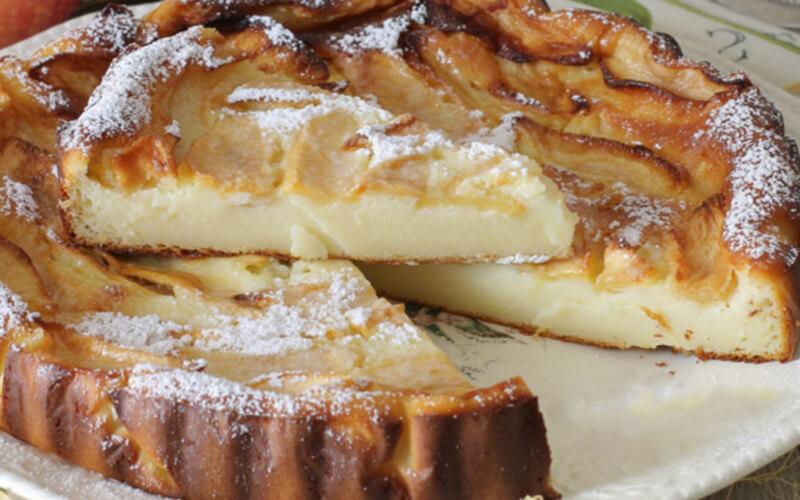 Gâteau aux Pommes et Mascarpone crémeux et fondant
