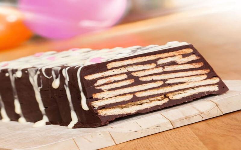 Gâteau petit beurre et chocolat sans cuisson