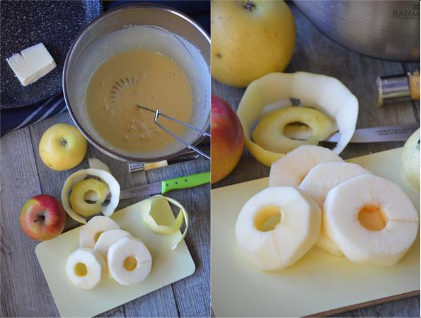 Comment préparer les Beignets de pommes à la poêle et sans friture etape 1