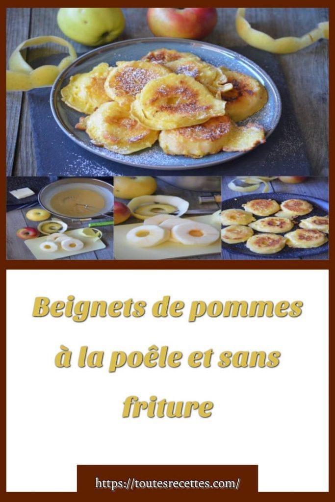 Comment préparer les Beignets de pommes à la poêle et sans friture