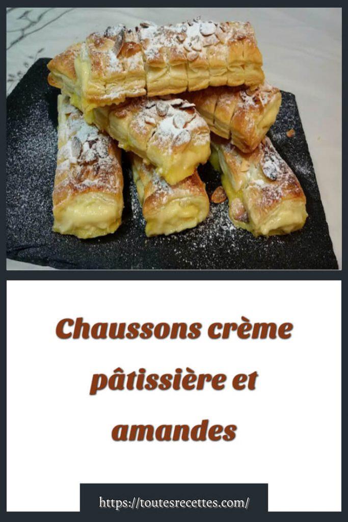 Comment préparer les Chaussons crème pâtissière et amandes