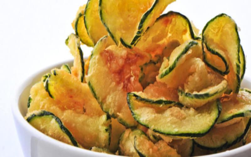 Chips de courgettes bien croustillantes un délice
