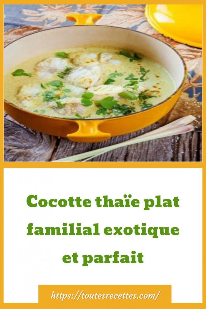 Comment préparer la Cocotte thaïe