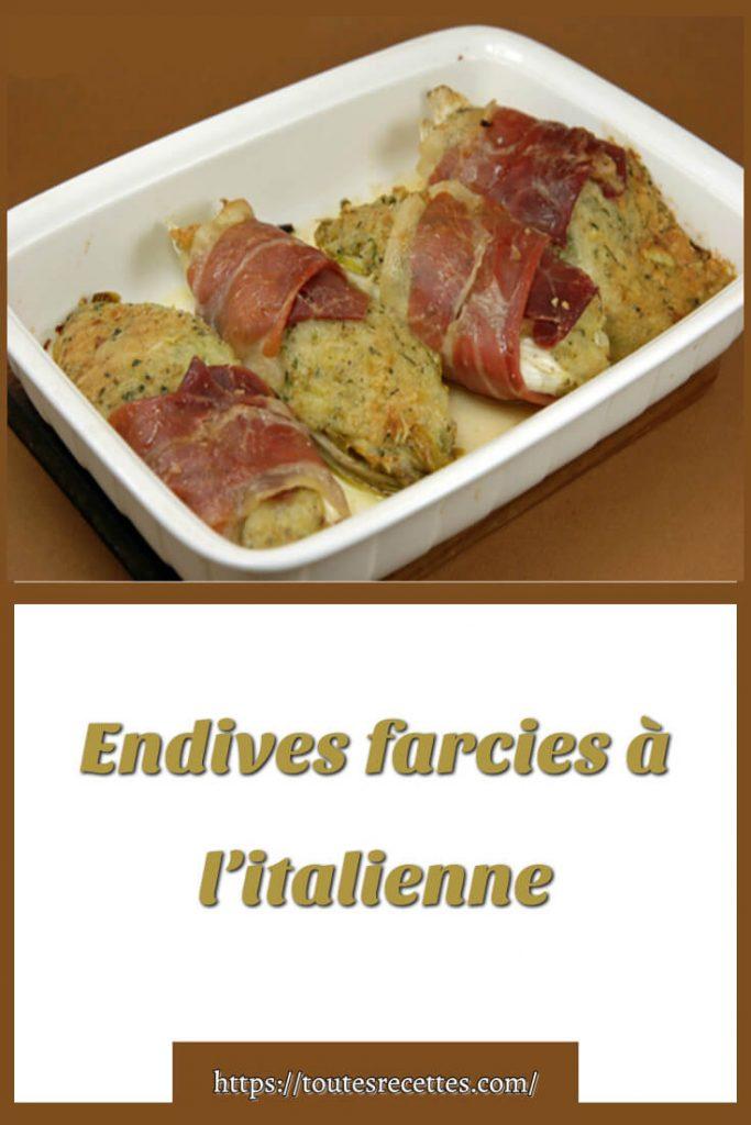 Comment préparer les Endives farcies à l'italienne