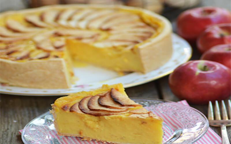 Flan pâtissier aux pommes dessert d'Automne par excellence