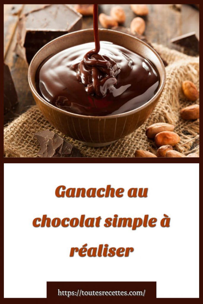 Comment préparer la Ganache au chocolat