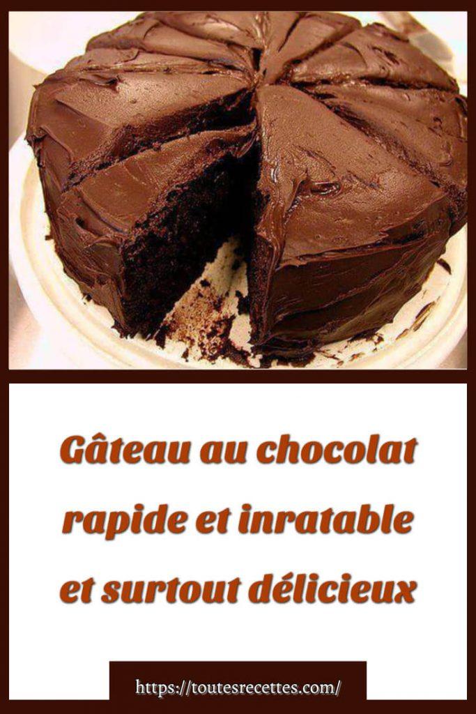 Comment préparer le Gâteau au chocolat rapide et inratable