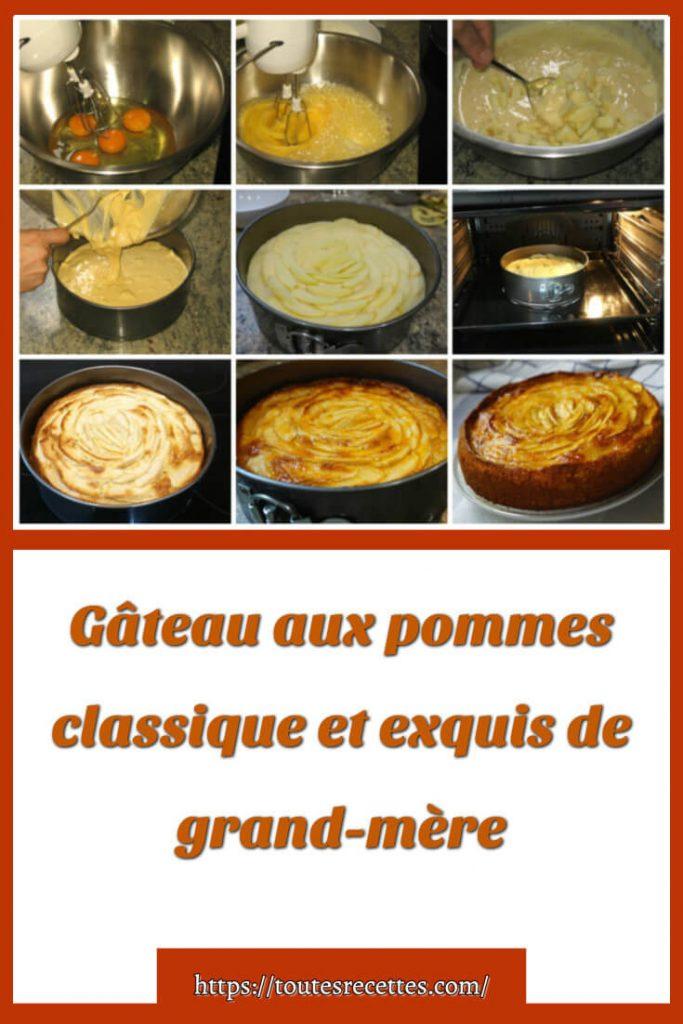 Comment préparer le Gâteau aux pommes classique et exquis de grand-mère