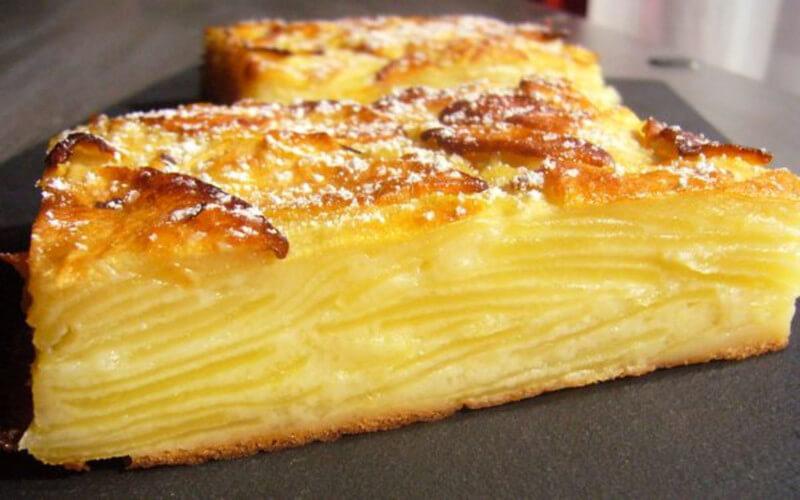 Gâteau invisible aux pommes recette ultra facile