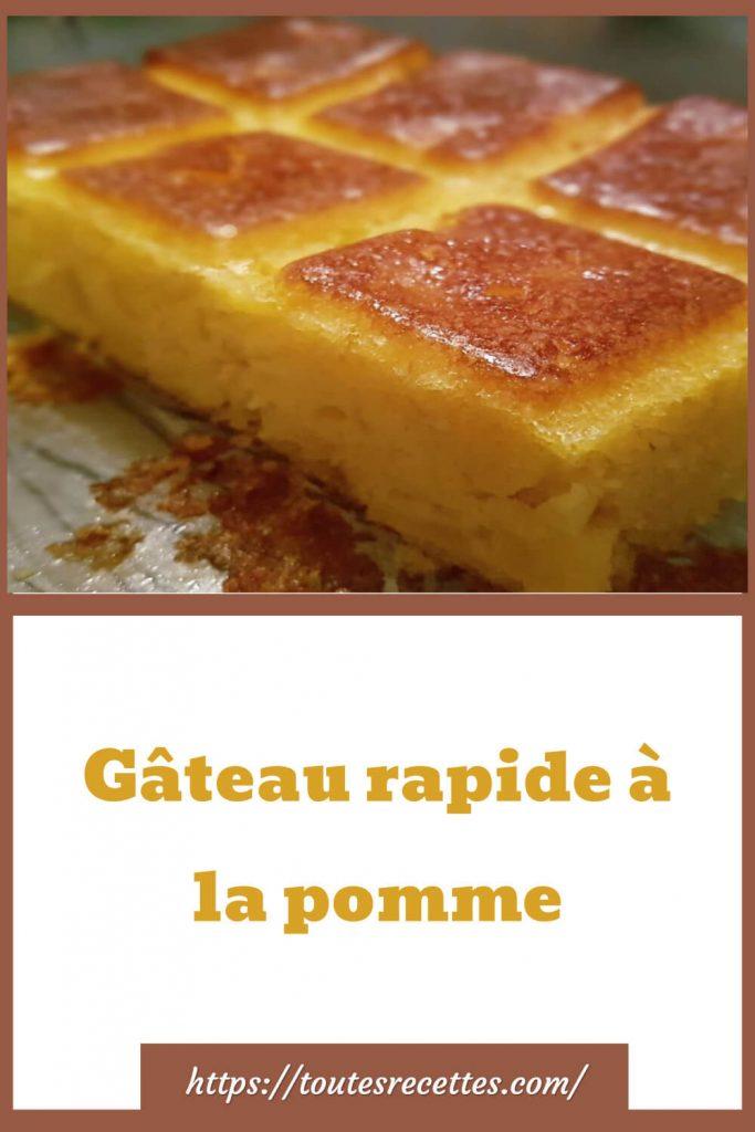 Comment préparer le Gâteau rapide à la pomme