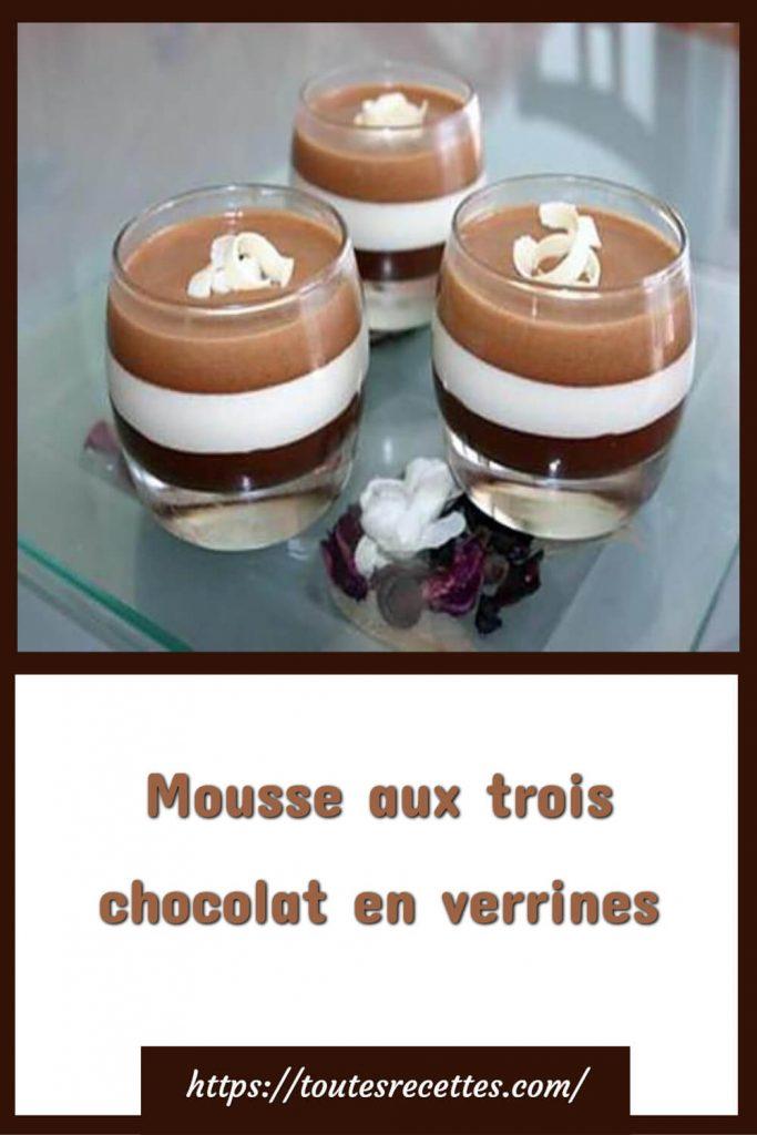 Comment préparer la Mousse aux trois chocolat en verrines