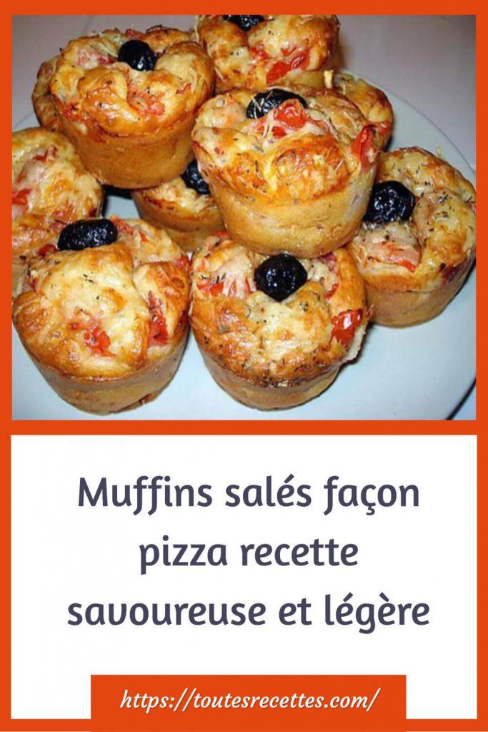Comment préparer des Muffins salés façon pizza
