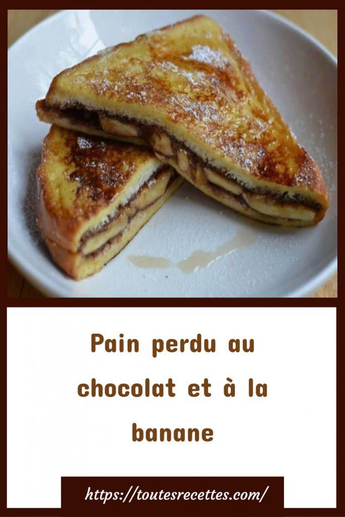 Comment préparer le Pain perdu au chocolat et à la banane