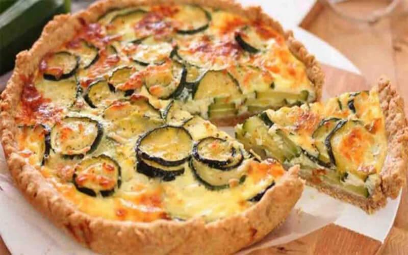 Quiche aux courgettes et aux 2 fromages