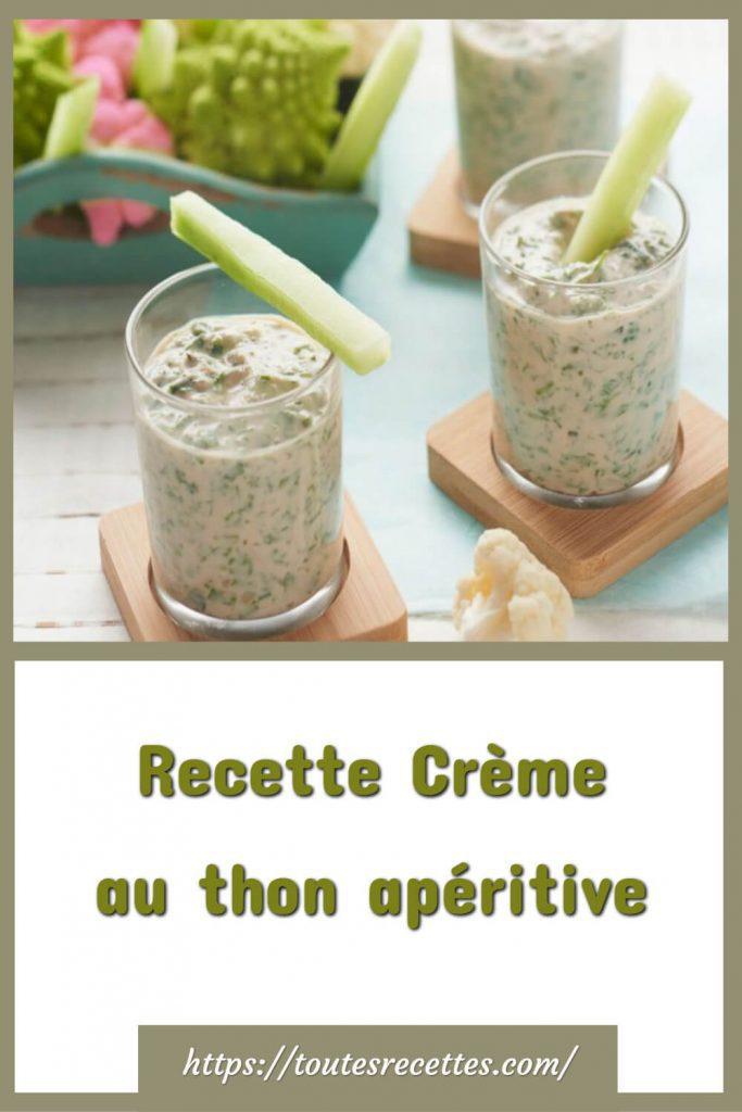 Comment préparer la Recette Crème au thon apéritive