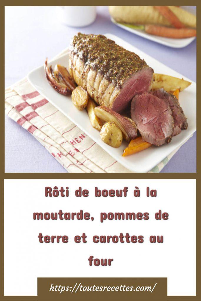 Comment préparer le Rôti de boeuf à la moutarde, pommes de terre et carottes au four