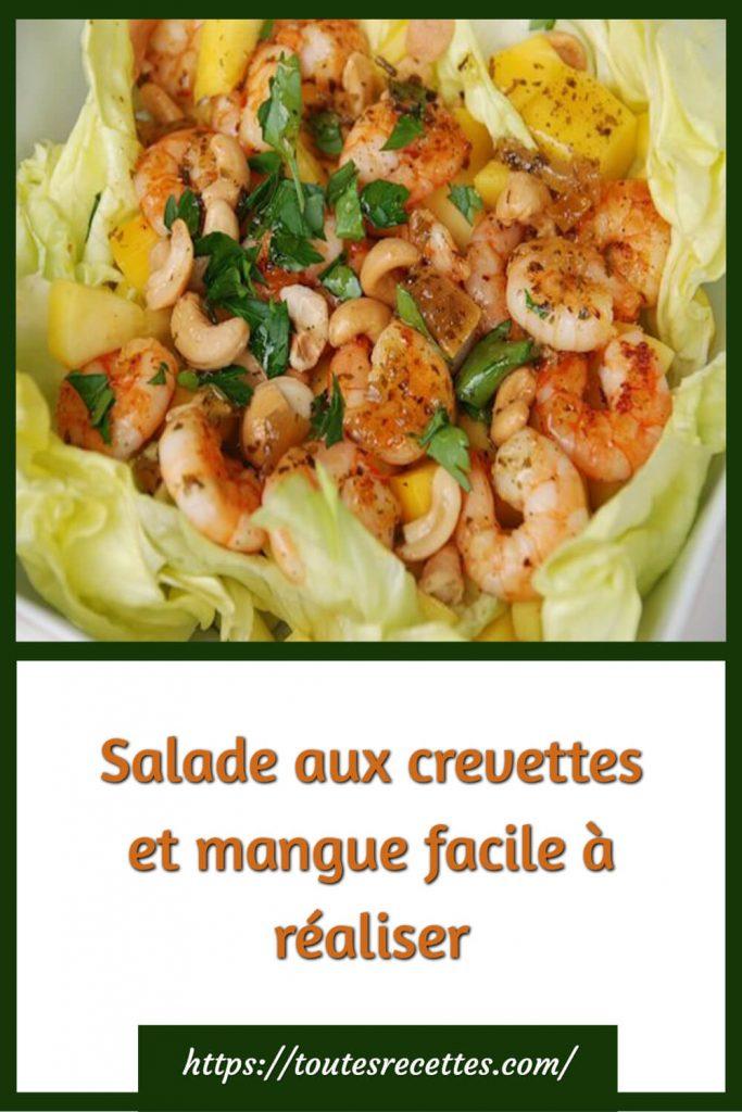 Comment préparer la Salade aux crevettes et mangue facile à réaliser
