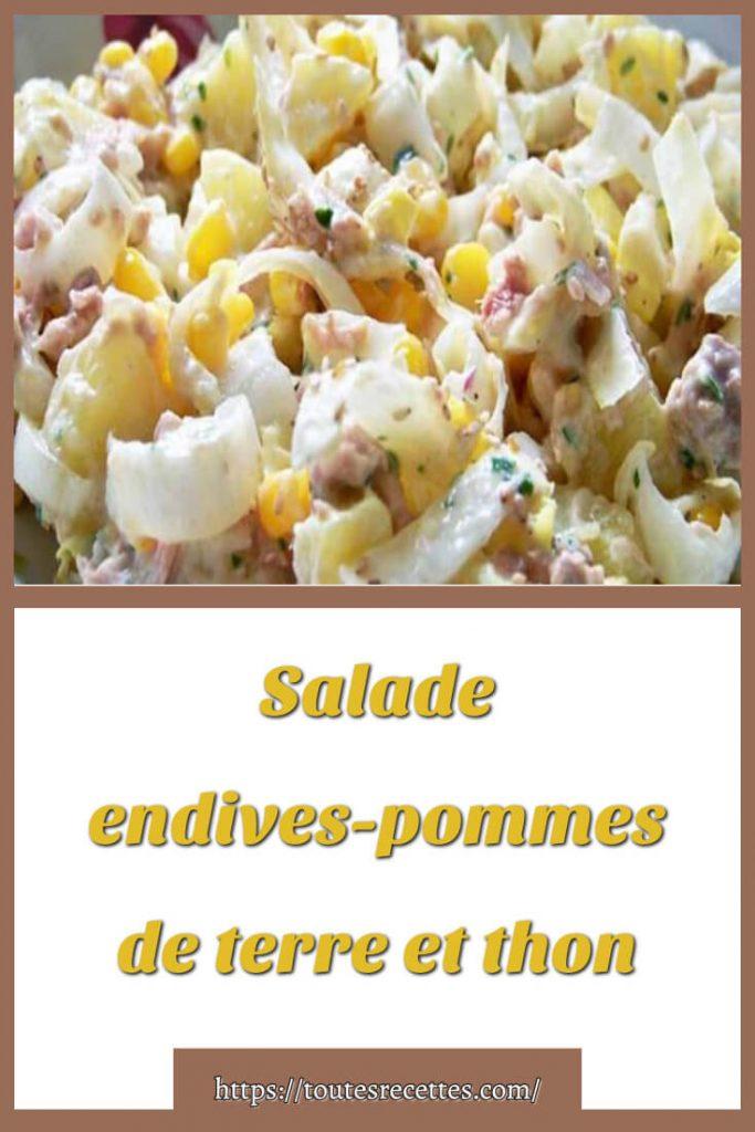 Comment préparer Salade endives-pommes de terre et thon