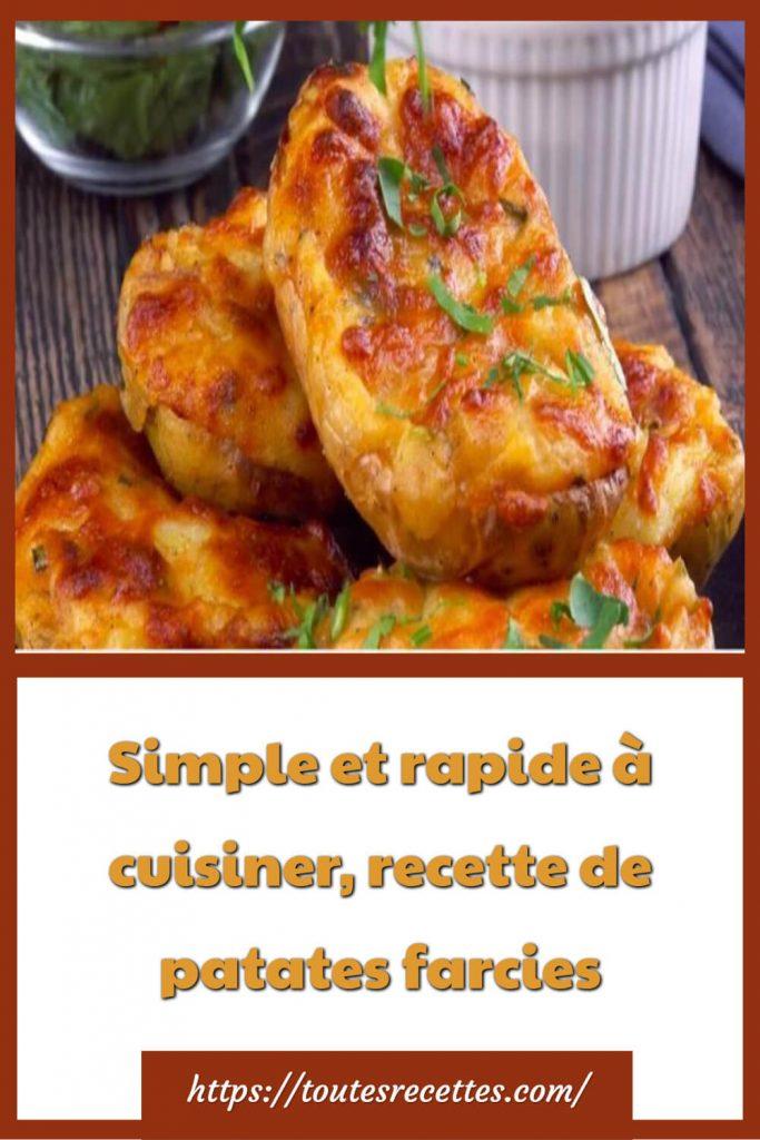 Comment préparer les patates farcies Simple et rapide
