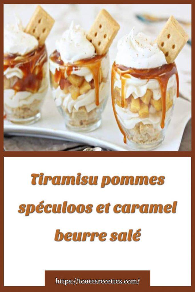 Comment préparer le Tiramisu pommes spéculoos et caramel beurre salé