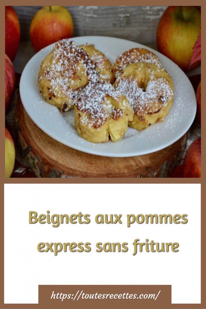 Comment préparer les Beignets aux pommes express sans friture