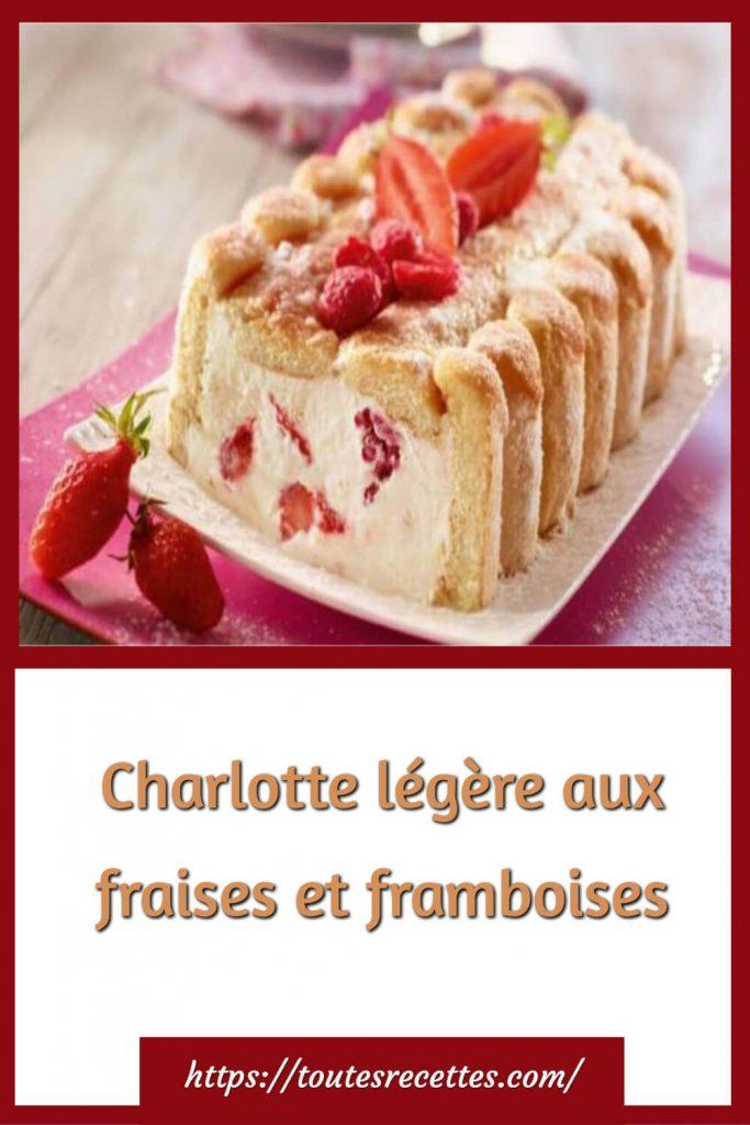 Comment préparer la Charlotte légère aux fraises et framboises