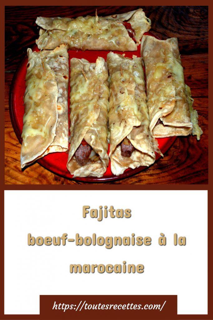 Comment préparer les Fajitas boeuf-bolognaise à la marocaine