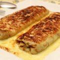 Ficelle Picarde crêpe garnie de jambon et champignons