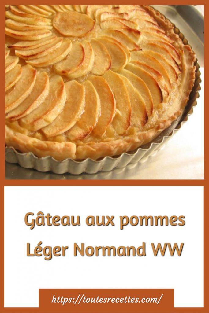 Comment préparer le Gâteau aux pommes Léger Normand WW