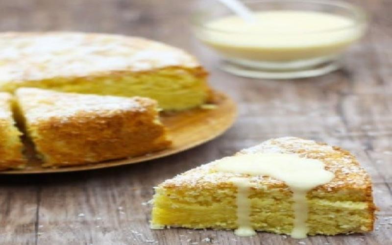 Gâteau moelleux à la noix de coco et citron