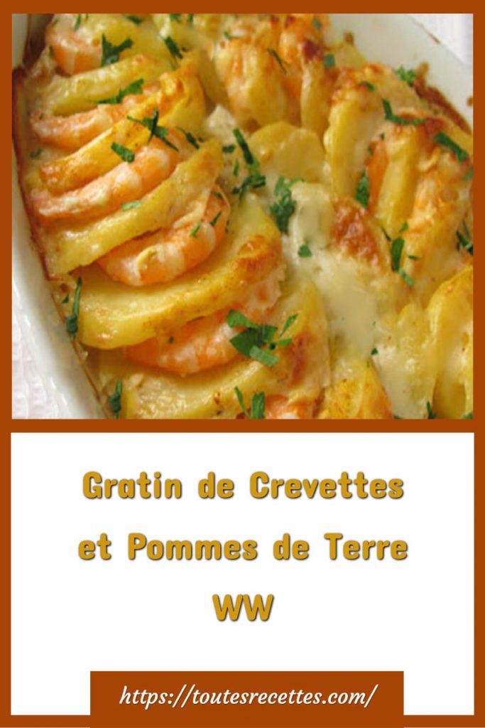 Comment préparer le Gratin de Crevettes et Pommes de Terre WW