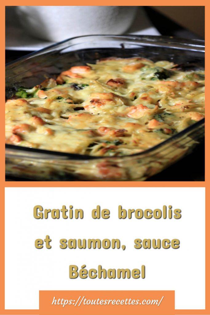 Comment préparer le Gratin de brocolis et saumon, sauce Béchamel