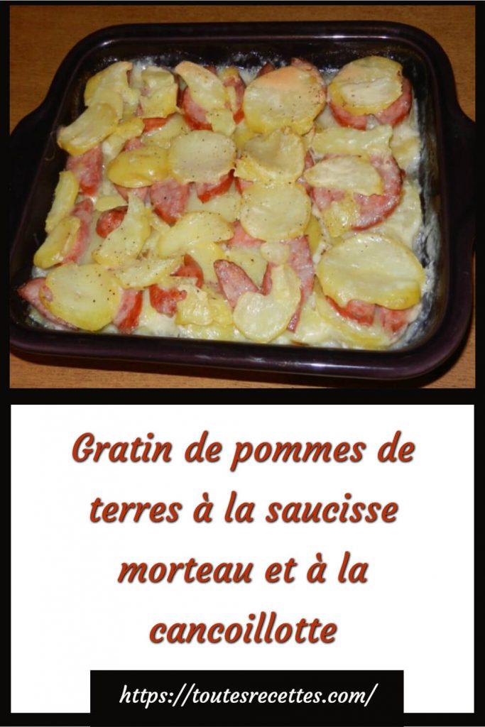 Comment préparer le Gratin de pommes de terres à la saucisse Morteau