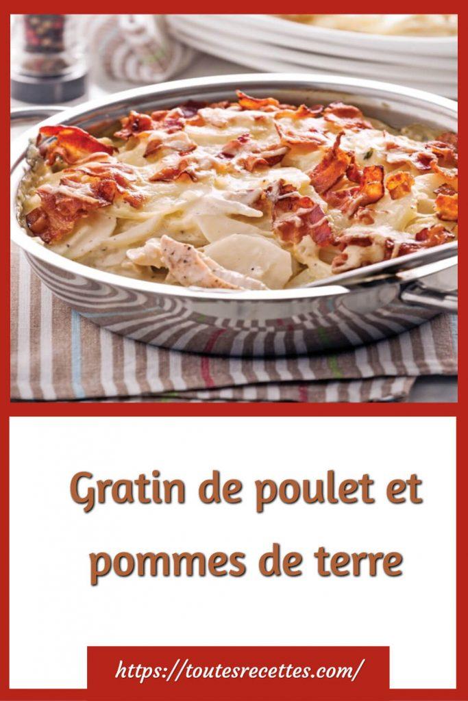 Comment préparer le Gratin de poulet et pommes de terre