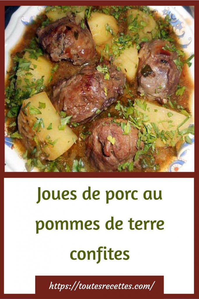 Comment préparer les Joues de porc au pommes de terre confites