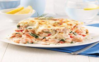 Lasagne au saumon et crevettes recette